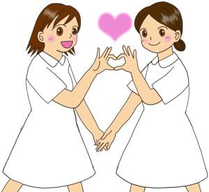 白衣の看護師イラスト